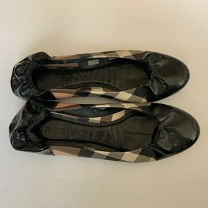 Burberry Patent Leather Flats